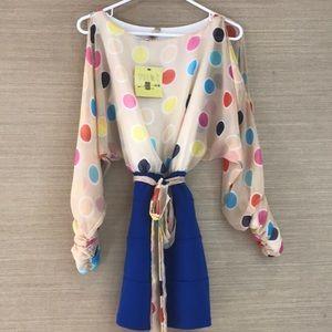 Adorable polka dot Long sleeve dress